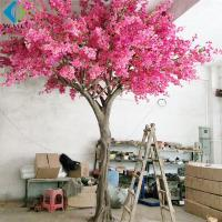 Wholesale Large Artificial Flower Tree , Pink Bougainvillea Flower Tree For Wedding Party from china suppliers