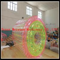 Wholesale PVC1.2MM Colorful 2.2m hot air welding  Floating Kids Toys colorful  Inflatable water roller ball for water pool from china suppliers
