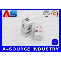 Buy cheap 10ml Vial Storage Box Hot Stamp Silver Foil Embossed For UK Anabolics from wholesalers