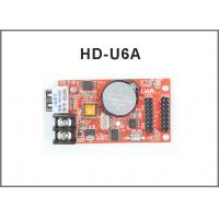 China Hot sell HD-U6A USB led control card monochrome &Two color 320*32pixel p10 led screen module support controller on sale