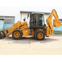 Buy cheap 100HP Yuchai Engine 1m3 4X4 3 Ton Backhoe Loader from wholesalers