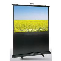 Cynthia Screen Portable Matte White Floor Scissor Pull Up Projector Screen