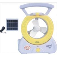 Buy cheap portable Fan with LED solar lamp from wholesalers