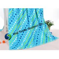 Buy cheap Blue polka dot beach towels , personalized beach towels for adults 275g/pcs from wholesalers