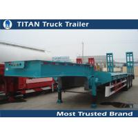 Buy cheap 50 Tons low loader 3 axle drop deck Low Bed Trailer for vessels , boats , combine harvesters from wholesalers