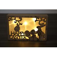 China factory sales battery holiday decoration light box wood frame on sale