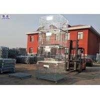 Wholesale Collapsible Storage Wire Container Storage Cages For Warehouse / Workshop from china suppliers