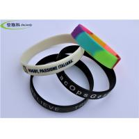 Buy cheap Fashion Unisex Silicone Rubber Bracelets , Custom Silicone Wristbands For Events from wholesalers