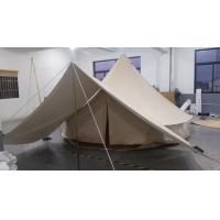 Buy cheap 5M outdoor camping canvas bell tent with awning canopy tent from wholesalers