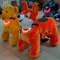 China Hansel best selling battery operated cow motorized plush riding animals in Guangzhou panyu on sale