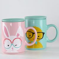 Buy cheap Super Big 28oz Custom Ceramic Coffee Mugs Milk Coffee Lovers Cup With Lid Cover from wholesalers