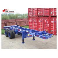 China Container Transport Tri Axle Skeletal Trailer , Red Multi Function Skeletal Trailer on sale