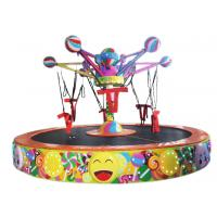 Buy cheap 220 V Lollipop Rotating Bungee Jumping Trampoline Customized Color from wholesalers