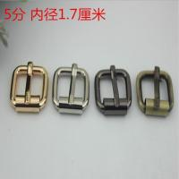 Buy cheap Wholesale Factory Bag Accessories Custom 17 MM Gunmetal Color Iron Metal Roller Pin Buckles For Belts from wholesalers