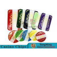 Buy cheap Casino Style Numbered Poker Chip Set Bright Color With Customized Print Logo product