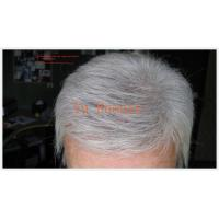 Buy cheap White grey man hair toupee from wholesalers