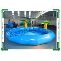 Buy cheap Blue Inflatable Water Pool , Round Inflatable Swimming Pool With Coconut Tree from wholesalers