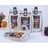 Buy cheap Mason Bottle Shape Custom Snack Bags Recyclable Stand Up Plastic Food Bag from wholesalers