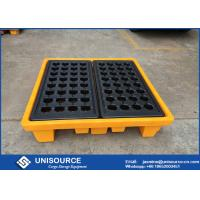 Buy cheap Polyethylene Industrial Plastic Pallets Safety 4 Drum Molding Oil Drum Pallet from wholesalers