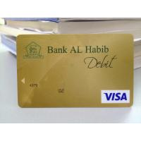 Buy cheap Mini gold hologram visa smart card with hico magstripe bent resistant from wholesalers