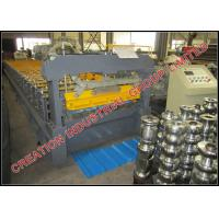 Pre coated Aluzinc Steel Inverted Box Rib Roof Panel Roll Forming Machine With Strong Structure Manufactures