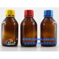 China 250ml amber chemical reagent glass bottle ,narrow mouth for liquids on sale