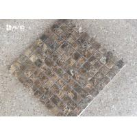 Buy cheap Dark Emperador Marble Mosaic Tile Sheets Polished 121 Pcs Scratch Resistant product