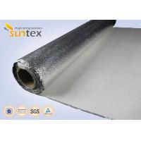 Buy cheap Non Combustible Aluminum Foil Fiberglass Cloth 1.3mm Laminated Heat Insulation Shield 150C from wholesalers