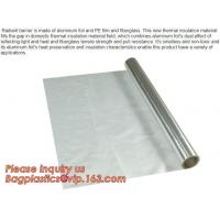 Buy cheap Aluminium laminated foil woven cloth vapor barrier lowes thermal insulation,foil fiberglass cloth,roof sarking,EPE,XPE from wholesalers