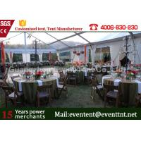 Buy cheap Clear Span Tent Customized Exhibition Display marquee With European Standard Frame Structure from wholesalers