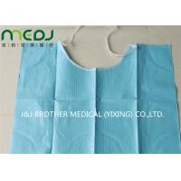 Buy cheap Neck Notch Dental Patient Apron Medical Disposable Paper And PE Bib With Tie On from wholesalers
