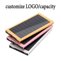 Wholesale High Capacity Solar Charger Power Bank 10000mAh External Battery Pack OEM / ODM from china suppliers