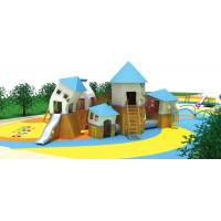 Buy cheap Outdoor Backyard Waterproof Children House Garden Child Wood Play House Kids Wooden Playhouse With Slides from wholesalers