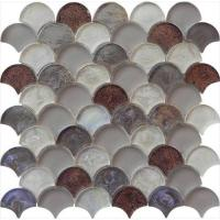 Meteorites brown grey water waving glass mosaic Manufactures