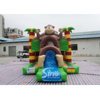 Wholesale Outdoor kids commercial jungle monkey inflatable combo in monkey theme park for jumping from Sino factory from china suppliers