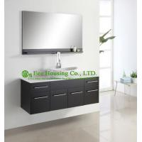 Bathroom Cabinet Luxorious Espresso Finished Single Sink Hanging,One Basin Wall Hung Modern Bathroom Vanities Cabinet Manufactures