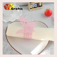 Buy cheap Pink butterfly wedding napkin rings for hotel , Butterfly Paper Napkins from wholesalers