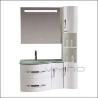 Buy cheap Custom Bathroom Vanities Combo White Bathroom Wall Cabinets Floating Bathroom Cabinets With LED Mirror Glass Sink from wholesalers