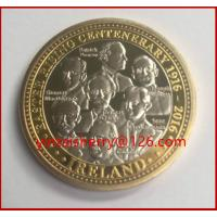 Buy cheap Easter rising 1916 souvenir coin, custom challenge coin,silver coin replica for sale from wholesalers