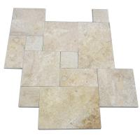 Honed Travertine Natural Slate Wall Tile , Rough Natural Stone Bathroom Tiles 12 X 6 Manufactures