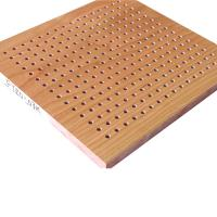 Buy cheap Natural Wood Veneer Perforated Acoustic Panels Hotel Sound Proof Wall Board from wholesalers