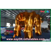 Outside Promotion Oxford Cloth Inflatable Model Gold Bull for Advertising Manufactures