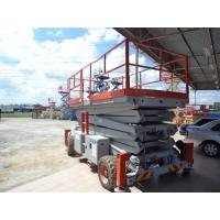 Buy cheap 11000mm steel Scissors aerial working platform 500kg DC 24V removable for industry from wholesalers