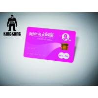 Buy cheap Neon Printing Plastic Business Cards With Chip Magnetic Stripe Hot Stamp Emboss Number from wholesalers