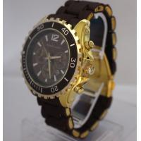 Golden Shinny Metal Mens Designer Watches With 2 Fake Eyes , Water Resistant Manufactures