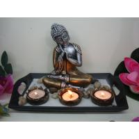 Buy cheap Resin buddha candle holder inculding some stones+sands/antique buddha statue/zen gardon from wholesalers