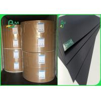 Buy cheap 350gr 400gr Wood / Recycle Pulp Stable No Fading Black Cardboard For High - Grade Box product