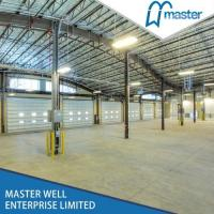 Automatic PU Sandwich Panel Motorized Industrial Overhead Sectional Garage Door Manufactures