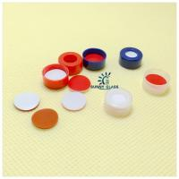 Wholesale 11mm Snap-top cap, 6.0mm centre hole/White PTFE/Red Silicone septa from china suppliers