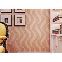 Buy cheap Bedroom Luxury Non Woven Wallcovering For Home Decoration , Foam Surface Treatment from wholesalers